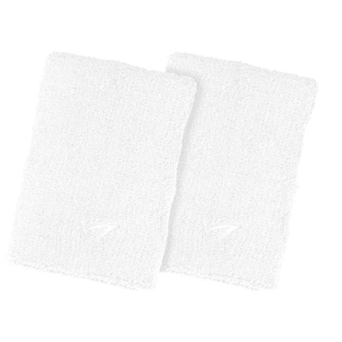 AVENTO Bracelets éponge coton x 2 - Blanc
