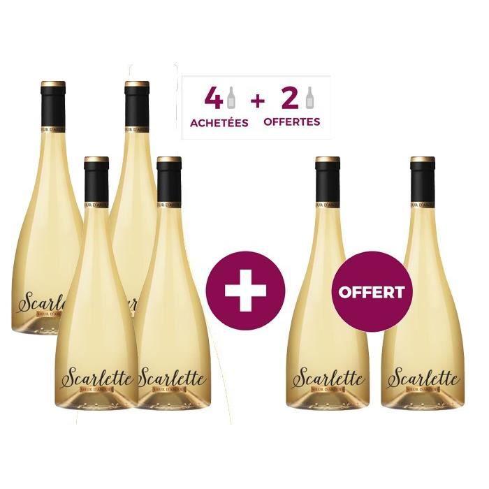 4 achetées = 2 offertes - Sieur d'Arques IGP Oc Scarlette - Vin blanc de Languedoc-Roussillon