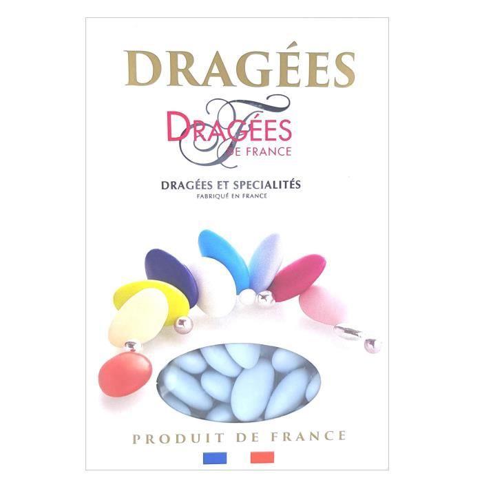 DRAGEES DE FRANCE Dragées Belle de nuit - Bleu - 40% d'amande - 1 kg