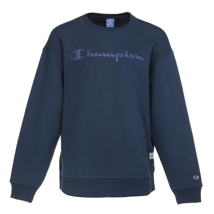 CHAMPION Sweatshirt col rond - Homme - Bleu