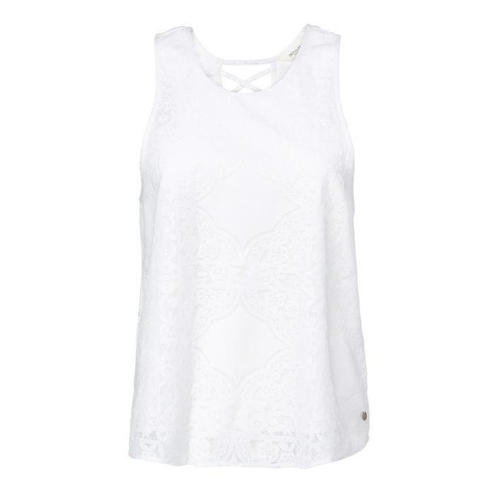DEELUXE T-Shirt Ester en Dentelle Blanc Femme