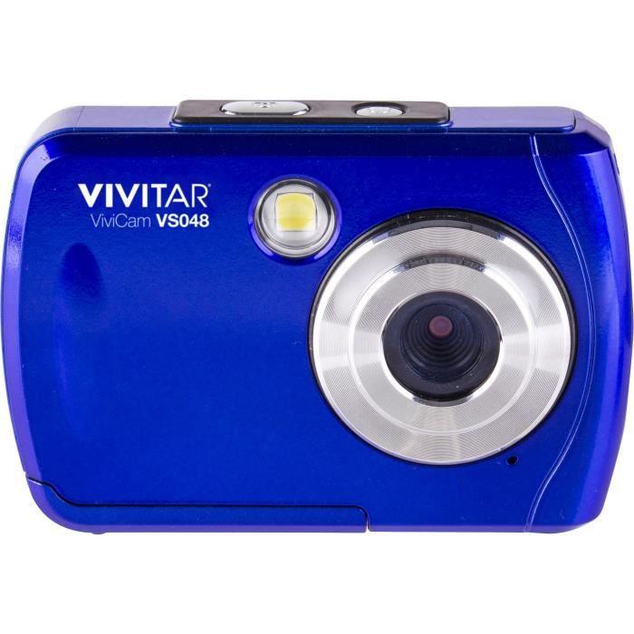 VIVITAR VS048 - Appareil photo numérique compact 16 Mégapixels, écran 2.4-, Waterproof - Bleu