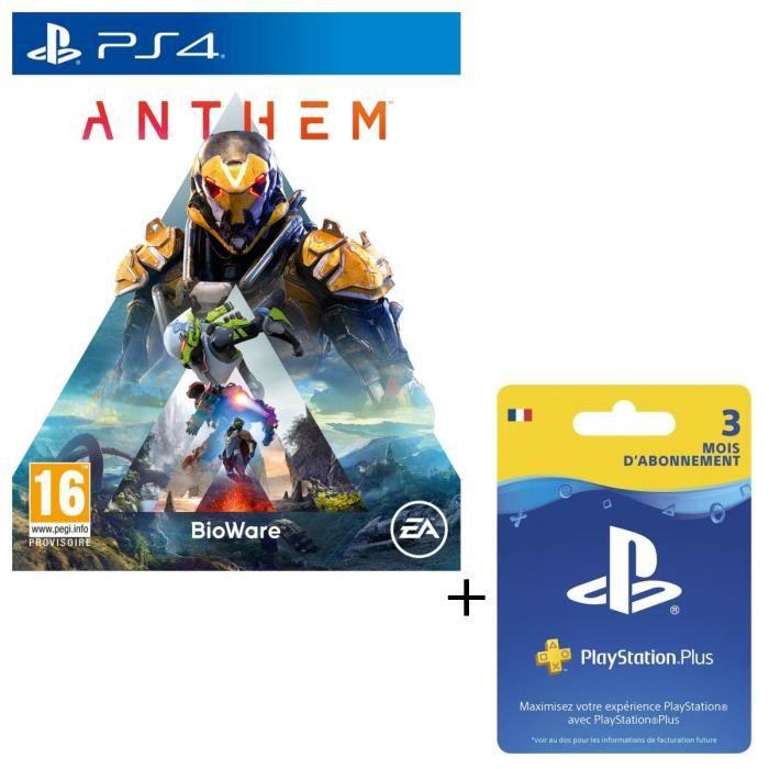 Pack Anthem + Abonnement PlayStation Plus 3 Mois