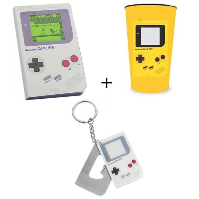 Pack Game Boy: Cahier + Décapsuleur + Gobelet PVC Game Boy
