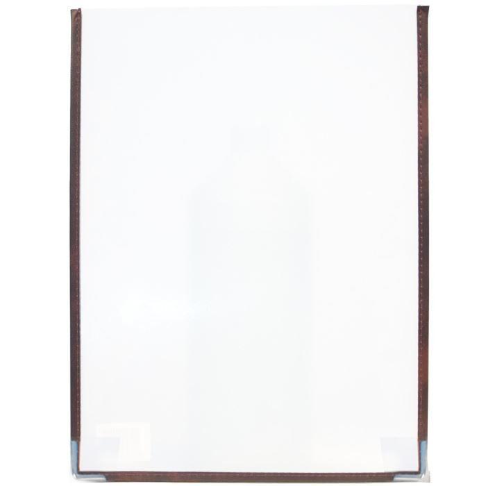 Set de 3 protège-menus simple transparent