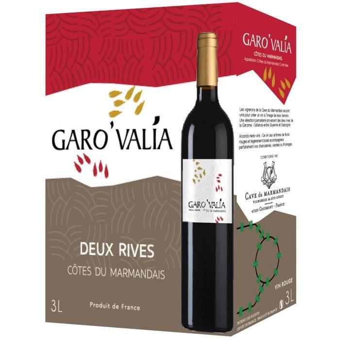 Bag in Box Garovalia Deux Rives Côtes du Marmandais - Vin rouge du Sud Ouest