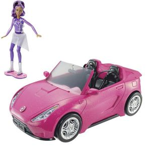 BARBIE Cabriolet Rose + Poupée Sally Sons et Lumi?re