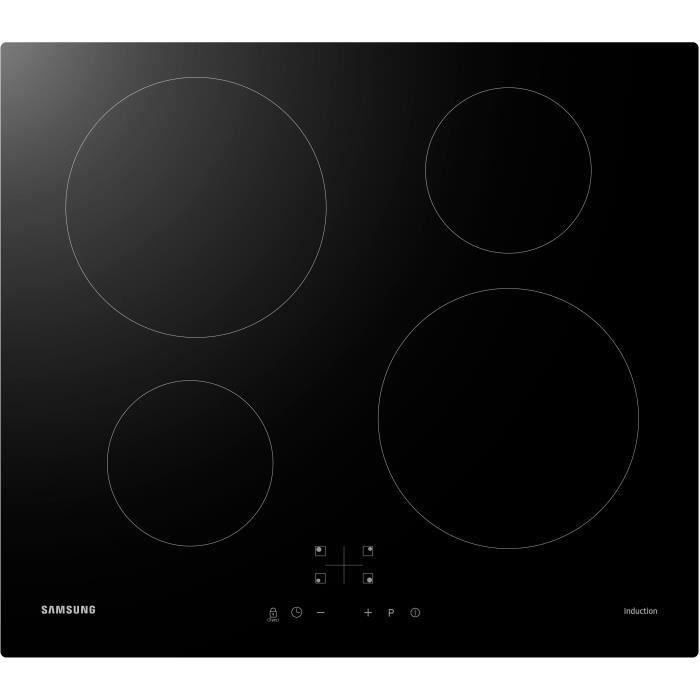 SAMSUNG NZ64M3NM1BB/UR Table de cuisson induction - 4 zones - 7200 W - L59 x P57 cm - Revêtement verre - Noir