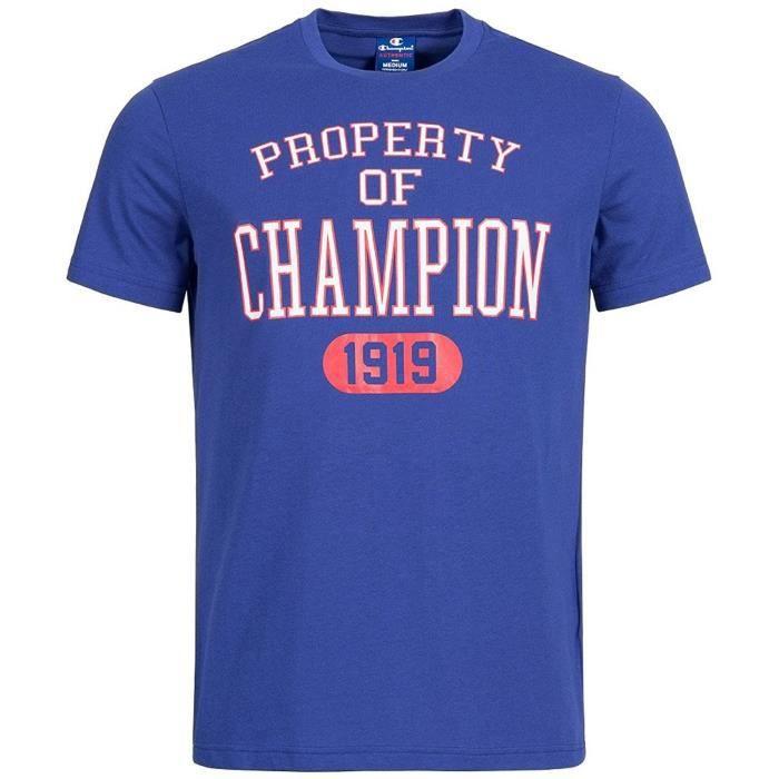CHAMPION T-shirt 1919 - Homme - Bleu
