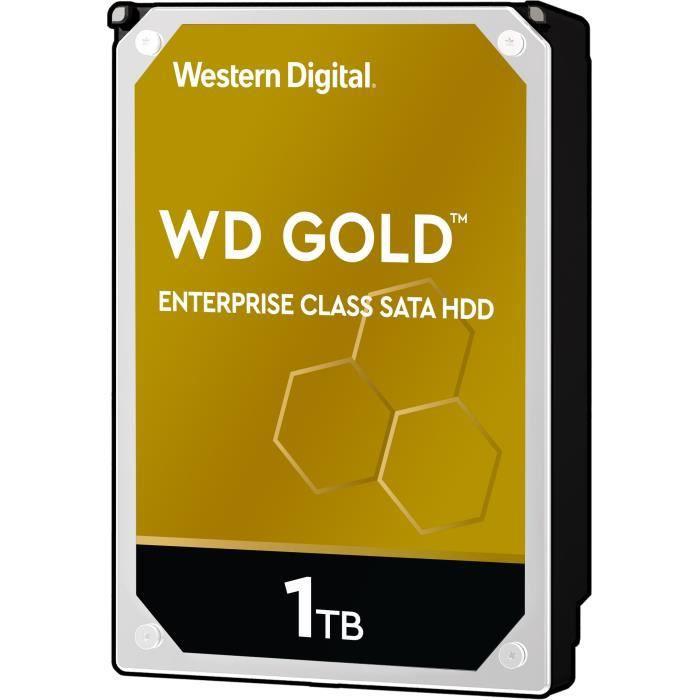 WESTERN DIGITAL Stockage interne Gold™ SATA HDD de classe entreprise, 1 To