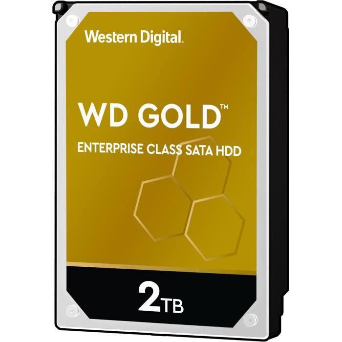WD Disque dur interne Gold - 2To - 128Mo - 3.5- WD2005FBYZ