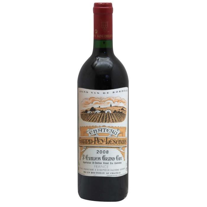 Château Grand Pey Lescours 2008 Saint-Emilion Grand Cru - 75 cl - Vin rouge de Bordeaux
