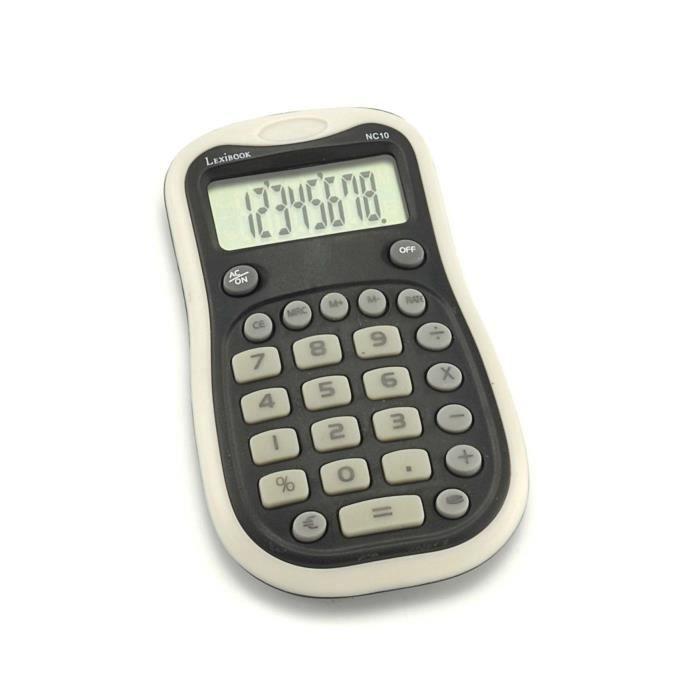 Calculatrice Maxi Pocket noir LEXIBOOK