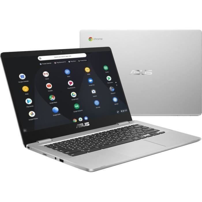 Ordinateur Portable Tactile Asus Chromebook C423na Bz0038 14 pouces Hd Pentium N4200 Ram 4 Go Stockage 64 Go Chrome