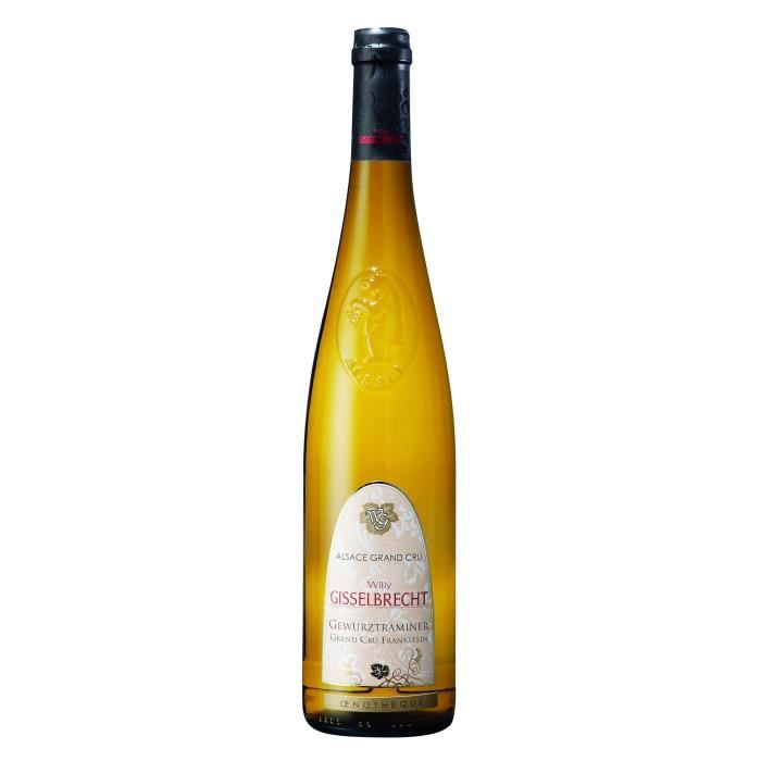 Gisselbrecht 2015 Gewürztraminer Grand Cru Frankstein - Vin blanc d'Alsace