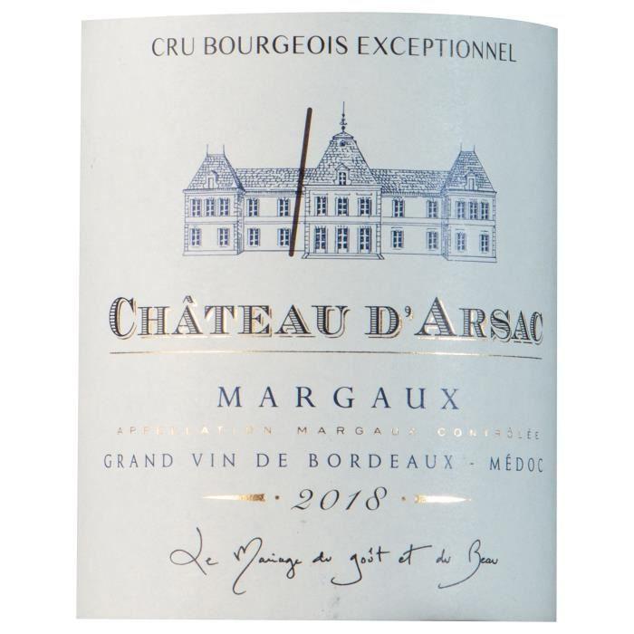 Château D'Arsac 2018 Margaux - Vin rouge de Bordeaux