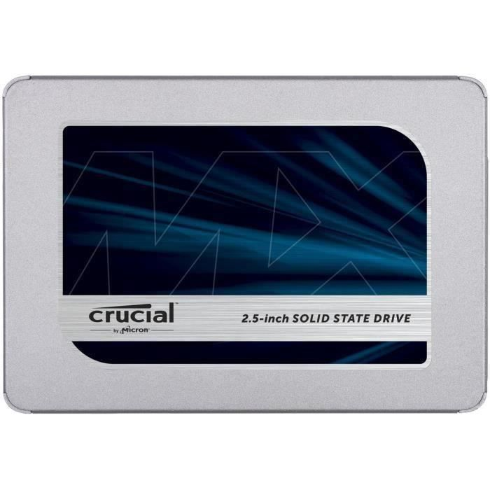 CRUCIAL - Disque SSD Interne - MX500 - 2To - 2,5- (CT2000MX500SSD1)