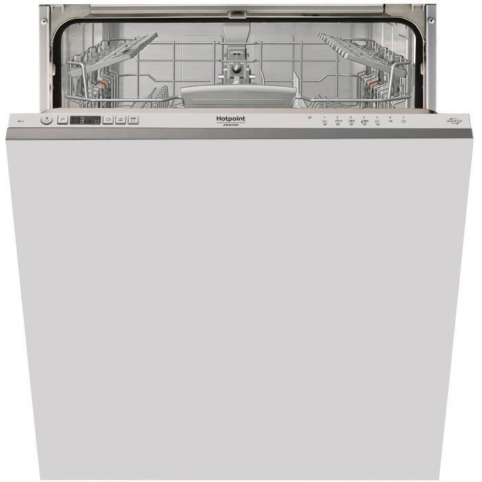 HOTPOINT HIC 3C24 - Lave vaisselle encastrable - 14 couverts - 44 dB - A++ - L 60 cm - Moteur induction