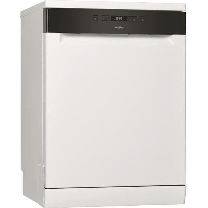 Lave-vaisselle pose libre WHIRLPOOL OWFC3C26 - 14 couverts - Induction - L60cm - 46dB - Blanc