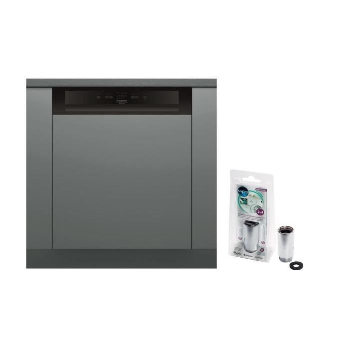 MWB103 Anticalcaire magnétique Vanne anti débordements + Lave-vaisselle HOTPOINT HBC2B+26B - 14 couv - Moteur induction - 46dB