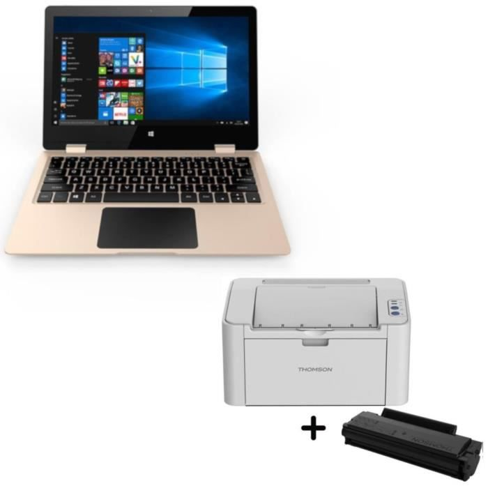 "THOMSON PC portable  NEO360 - 11,6"" + Imprimante laser monochrome DPI + TONER MONOCHROME"