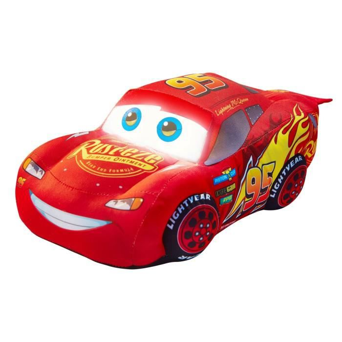 CARS Peluche Veilleuse Flash Mac Queen 2en1 GoGlow