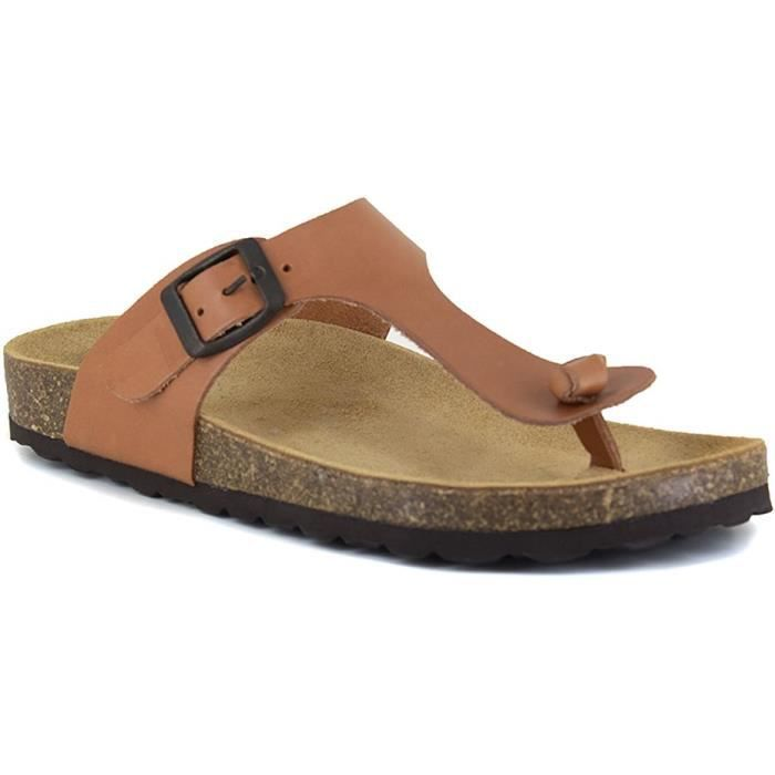 J.BRADFORD Chaussures Sandales JB-Abadia Camel Femme