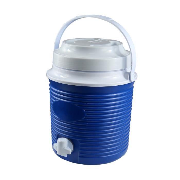 CAO CAMPING Bidon isotherme 5,8 L - Bleu et blanc