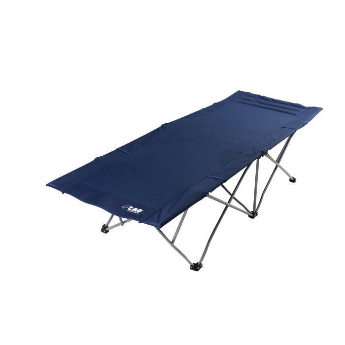 CAO CAMPING Lit de camping parapluie - 1 place - Bleu