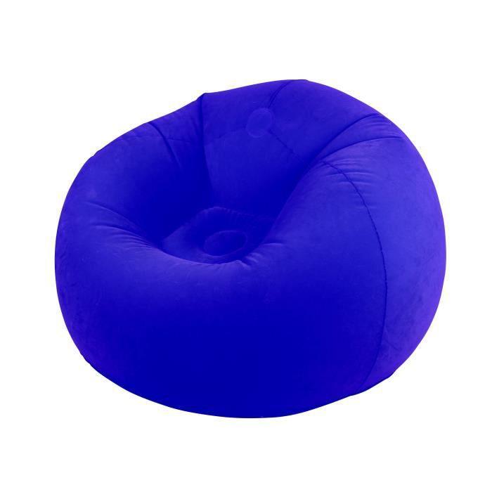 CAO CAMPING Pouf gonflable floqué - Bleu