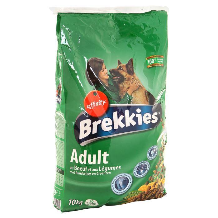 BREKKIES Croquettes au bœuf et aux légumes pour chien adulte 10kg