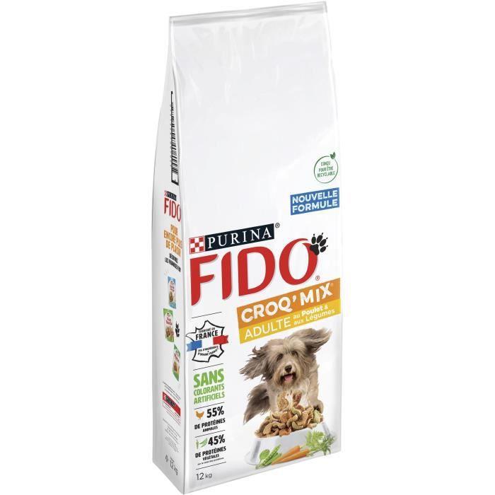 FIDO Crox'Mix Poulet, Légumes - Pour chien - 12 kg