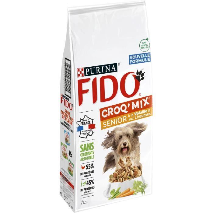 FIDO Crox'Mix Volaille, Légumes - Pour chien - 7 kg