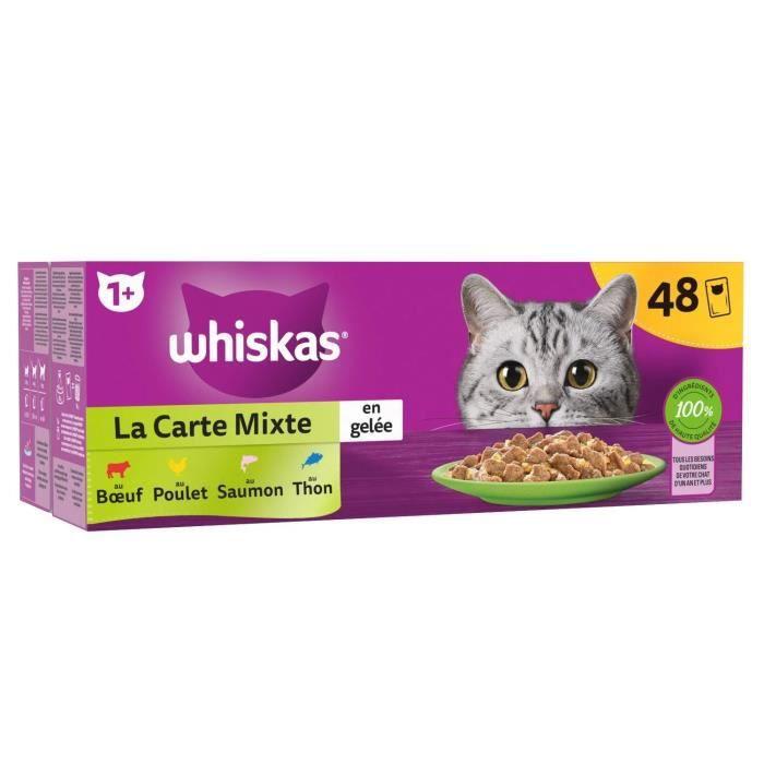 WHISKAS Terrine du marché - Pour chat - 48 X 100 g