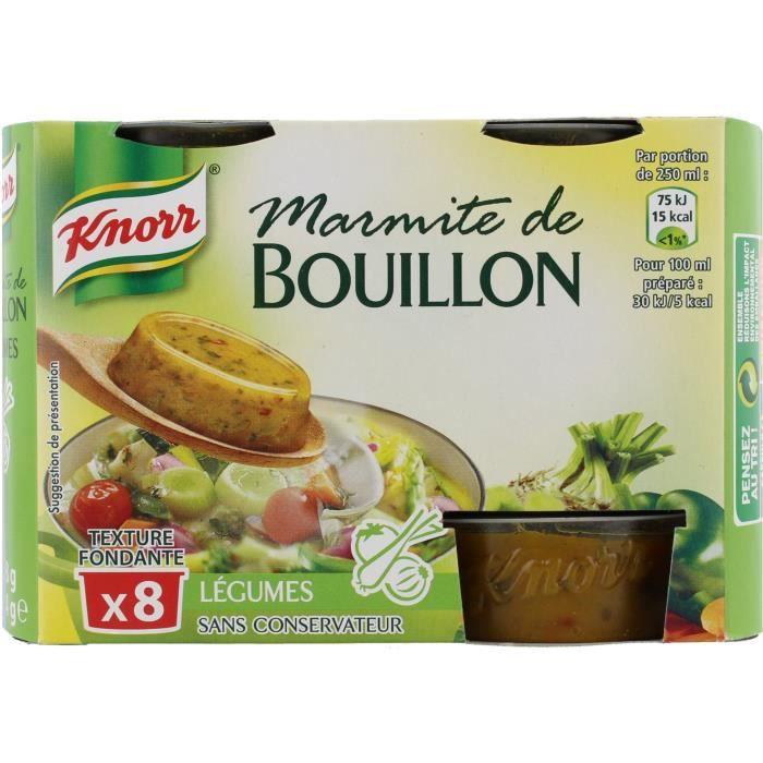 KNORR Marmite de Bouillon Légumes 8 Capsules - Lot de 8x 224 g