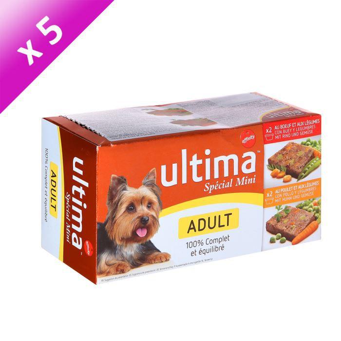 ULTIMA Terrine Spécial Mini Adult - 4 x 150g (x5) - Pour chien adulte