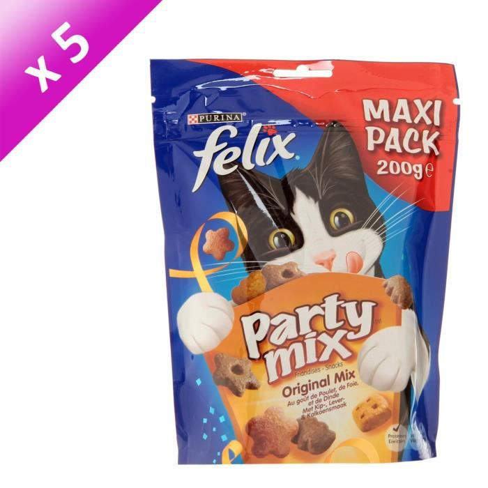 FELIX Party Mix original - Pour chat - 200g (x5)