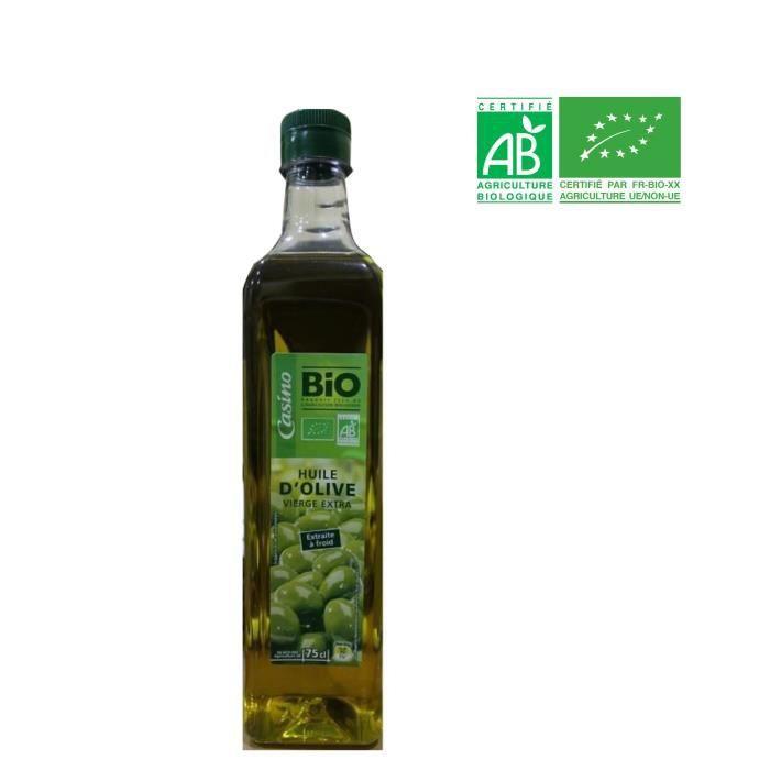 CASINO BIO Huile d'Olive 75 cl
