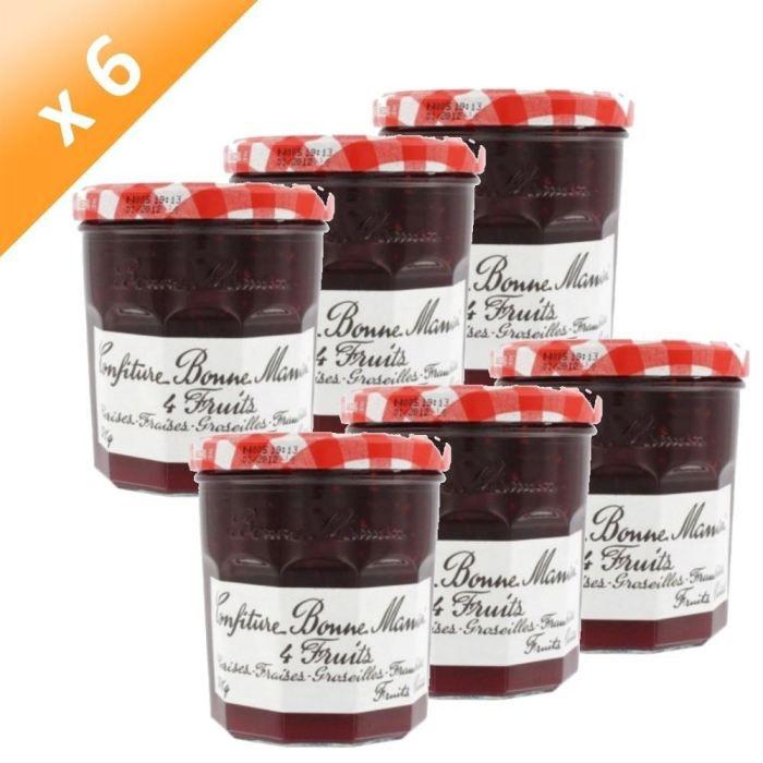 BONNE MAMAN Confiture 4 Fruits 370g (x6)