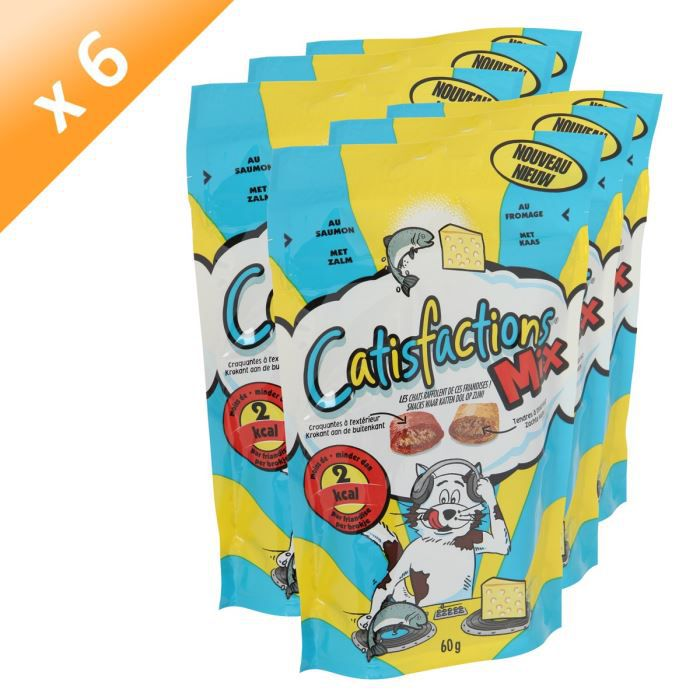 CATISFACTIONS Saumon Fromage 60g (x6)