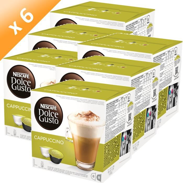 DOLCE GUSTO Cappuccino 16 Capsules 200g (x6)