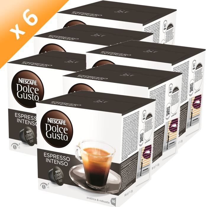 DOLCE GUSTO Espresso Intenso 16 Capsules 128g (x6)