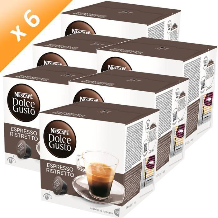 DOLCE GUSTO Espresso Ristretto 16 Caps. 104g (x6)