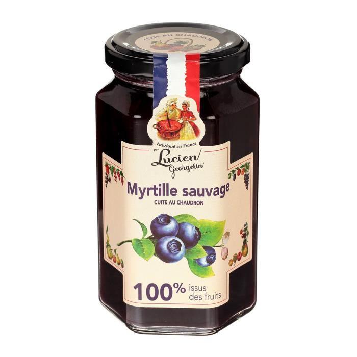 LUCIEN GEORGELIN Confiture Myrtilles Sauvages - 100% Fruits - 300 g
