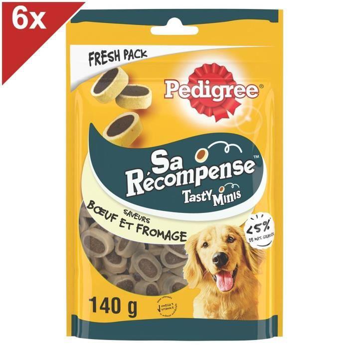 PEDIGREE Sa Récompense Mini Bouchées au bœuf et fromage - Pour chien - 6 x 140 g