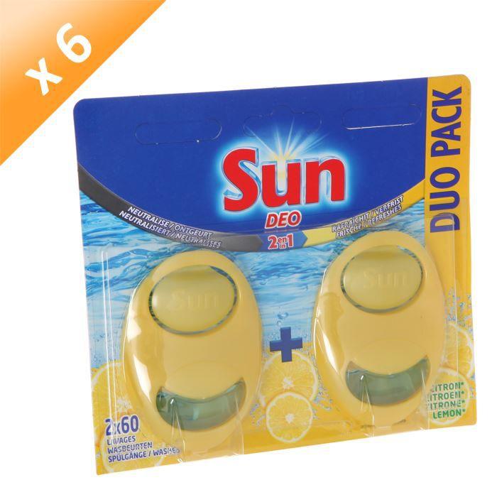 SUN Désodorisant Duo Pack Citron (x6)