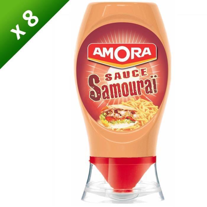 AMORA Sauce Samouraï Flacon Souple - Lot de 8x 255 g