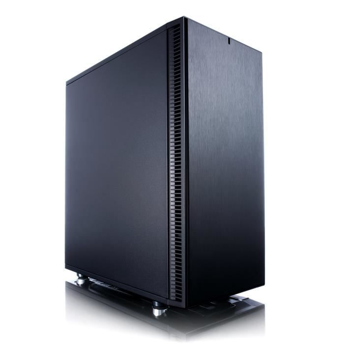 FRACTAL DESIGN BOITIER PC Define C - Moyen Tour - Noir - Format ATX (FD-CA-DEF-C-BK)