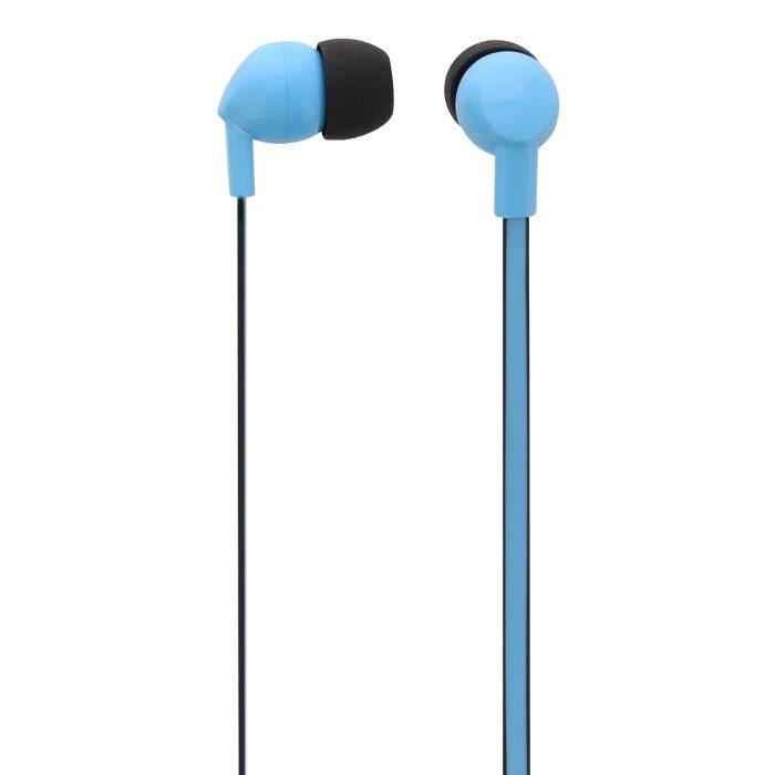 TNB BE COLOR - Ecouteurs intra-auriculaires avec micro universel intégré - Bleu et noir