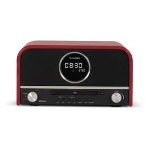 SCHNEIDER SC700MCCD Micro chaine CD/MP3/Bluetooth - Rouge